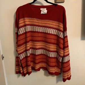 New with Tags Umgee Plus Size Striped Sweater